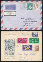 1980-1990 15 db német levél + 42 db NDK CM