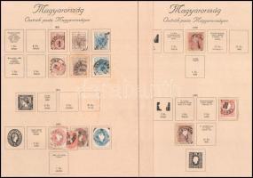 Osztrák posta Magyarországon kb. 50 db bélyeg + néhány Hírlapbélyeg, albumlapokon és stecklapon