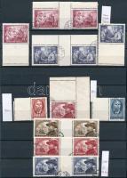 1950-1952 Üres mezős és ívközéprészes bélyegek berakólapon (10.700)