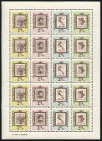 1962-1972 Rózsák I. 20f kilencescsík emblémás ívszéllel + Bélyegnap ív + Bélyegnap 45. sor 3 értéke tízestömbökben (6.800)