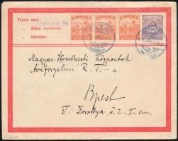 1920 35f díjjegyes boríték 30f díjkiegészítéssel KÖRMEND - Budapest / 35f PS-cover with 30f additional franking