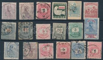 1850-1946 18 db bélyeg vegyesen, köztük sok Krajcáros
