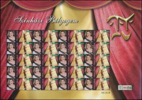 2011 Színházi bélyegem - Értékjelzés nélkül - Oszvald Marika megszemélyesített teljes ív (14.500)