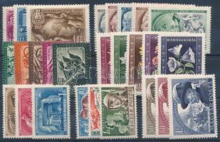 1950 Összeállítás 7 db sorral, stecklapon (13.200)