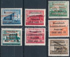 1956 Soproni kiadás 7 értékes sor MF garanciajelzéssel (12.000)