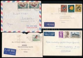 30 db légiposta képeslap és 20 db légiposta levél