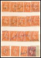 Nagy-Britannia György-fejes bélyegek klf típusú bélyegzésekkel, 4 oldalas zsebberakóban