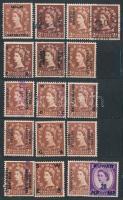 Nagy-Britannia és területei összeállítás, benne Viktória-fejes bélyegek, portók is, 4 lapos zsebberakóban