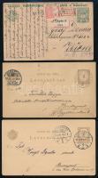 7 db régi díjjegyes levelezőlap és levél, közte 2 használatlan