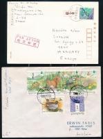 30 db vegyes külföldi küldemény és levél