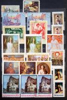 Magyar és külföldi bélyegek, közte Irán, Lengyelország, Románia, 4 db 8-12 lapos közepes berakóban, dobozban