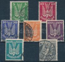 Deutsches Reich 1924 Légiposta sor Mi 344-350 (Mi EUR 280.-)