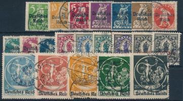 Deutsches Reich 1920/1921 Forgalmi sor Mi 119-138 (Mi EUR 110.-)