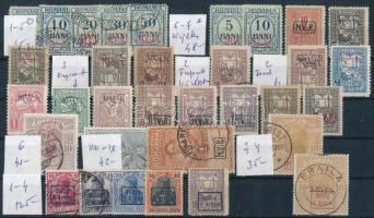Német posta Romániában összeállítás stecklapon (Mi EUR min. 500.-)