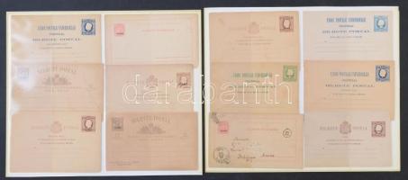 Azori-szigetek 19 db klasszikus díjjegyes levelezőlap, közte futottak is