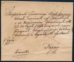 1839 Levél ZELIZ