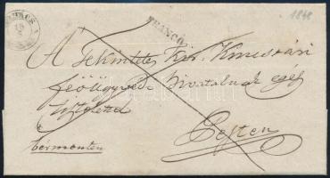 1848 Franco levél MOHÁCS - PESTH