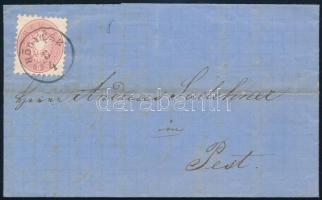 1866 Levél 5kr bérmentesítéssel, HÖGYÉSZ - PEST / Abend