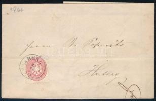 1866 Levél 5kr bérmentesítéssel, RUSZKBERG - OHABA BISTRA + BUKOVA - HATZEG