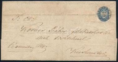 1865 Levél 10kr bérmentesítéssel, JÁSZBERÉNY