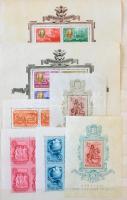 Magyar postatiszta gyűjtemény az 1930-as évek végétől 1978-ig 5 db A4-es berakóban, jobb blokkokkal (Roosevelt, Lánchíd) sok másodpéldánnyal, néhány emléklappal. Több bélyeg enyhén összetapadt, beleragadt a berakóba. Szép menthető anyag, nagyon magas katalógusár!