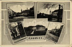 Csáktornya, Cakovec; Hősök szobra, utcák. Dobos / military heroes statue, streets (EK)