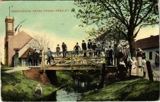 1918 Csáktornya, Cakovec; patak utca, fahíd / street, wooden bridge (EK)