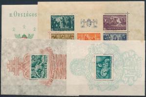 1938-1965 7 klf blokk és kisív, 2 db stecklapon (25.200) (néhányon kisebb hibák / some have small flaws)