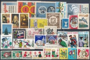 34 db külföldi levélzáró