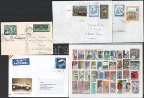 Ausztria 1961-1977 40 db bélyeg, köztük 4 db motívum sor + 4 db futott levél