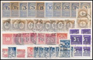 Ausztria 1894-1990 Portó összeállítás 46 db bélyeggel, közepes berakólapon