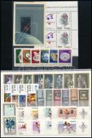 Lengyelország 1962-1989 6 db motívum sor + 2 db blokk + 90 db bélyeg ömlesztve + 10 db futott levél + 3 db díjjegyes levelezőlap