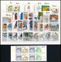 NSZK 1977-1991 34 db bélyeg, köztük 2 db motívum sor, ívszéli sorszámok és 1 db bélyegfüzetlap