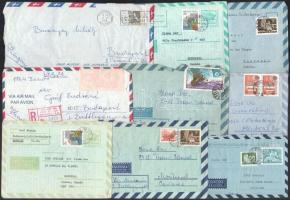 25 db légiposta küldemény, főleg magyar