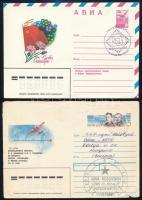 Szovjetunió 1982-1991 115 db bélyeg, köztük 19 db sor + 4 db blokk + 1 db kisív + 8 db futott levél + 6 db díjjegyes levelezőlap