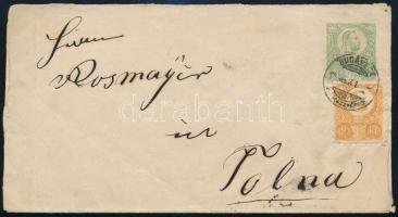 1873 3kr díjjegyes levél 2kr díjkiegészítéssel, BUDAPEST - Tolna, R!
