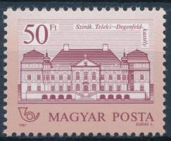 1987 Kastélyok II. 50Ft 11 1/2:12 1/4 fogazással (90.000)