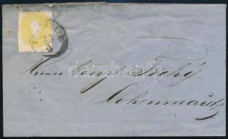Ausztria 1863 2kr levélen (a papír megerősítve)