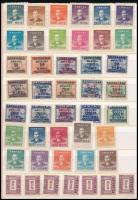 44 klf kínai és 43 klf tajvani bélyeg közepes berakólapon