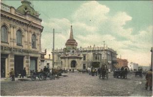 Irkutsk, street view, shops, market (EK)