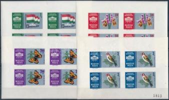 1961 Nemzetközi bélyegkiállítás I. számozott vágott kisívsor (20.000) (2,60Ft kis sarokhiba / minor corner flaw)