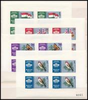 1961 Nemzetközi bélyegkiállítás I. fogazott + számozott vágott kisívsor, közepes berakólap mindkét oldalán (11.750)