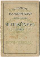 1941. Szombathelyi Takarékpénztár Részvénytársaság betétkönyve, kitöltve , kopottas állapotban