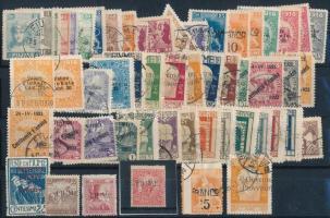 Fiume összeállítás 1918-tól, köztük 3 db megszállási bélyeg is Bodor vizsgálójellel, összesen 54 db