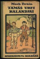 Mark Twain: Tamás úrfi kalandjai. Ford.: Halász Gyula. Pólya Tibor rajzaival. Bp., 1922., Pallas. Kiadói illusztrált félvászon-kötés, kopott borítóval.