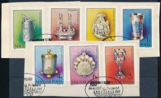 1984 Magyarországi zsidó művészet vágott sor két kivágáson (4.000)