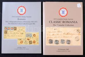 2 db Corinphila klasszikus Románia árverési katalógus (2007 + 2018)