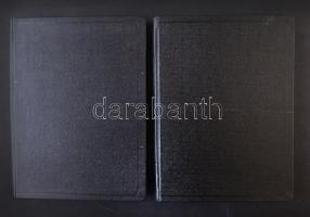 2 db 8 lapos, fekete oldalas, A/4-es berakó, fekete borítóval, jó állapotban