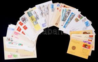 85 db levél, levelezőlap, emléklap, alkalmi bélyegzésekkel
