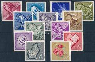 1963 Nagy idők - nagy események 13 klf vágott bélyeg (14.300)